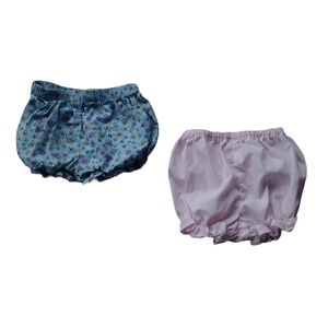 Lot of 2 Diaper Covers, Pink/Floral Blue, 6-9m